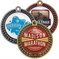 "Speed Medal - 2.5"" 3D Wreath - 6 Day Production"