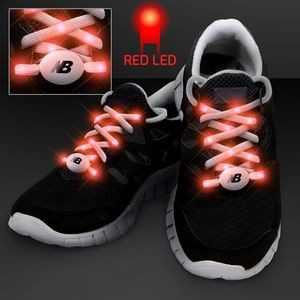 Red LED Shoelace Lights for Night Running